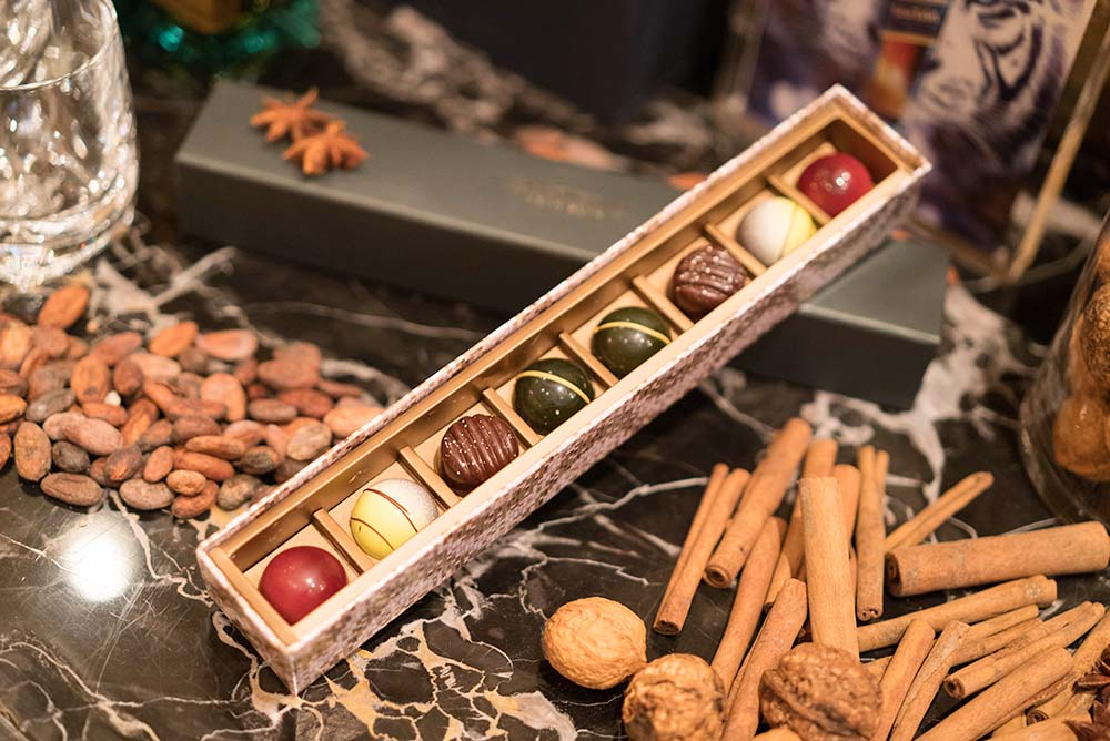 A total of eight freshly made, artisanal chocolates from four flavours have been curated by The Peninsula Hong Kong's Executive Pastry Chef, Frank Haasnoot
