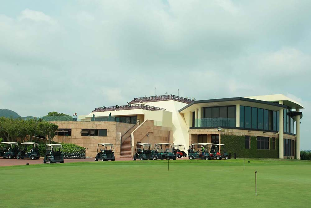 The clubhouse offers a panoramic view