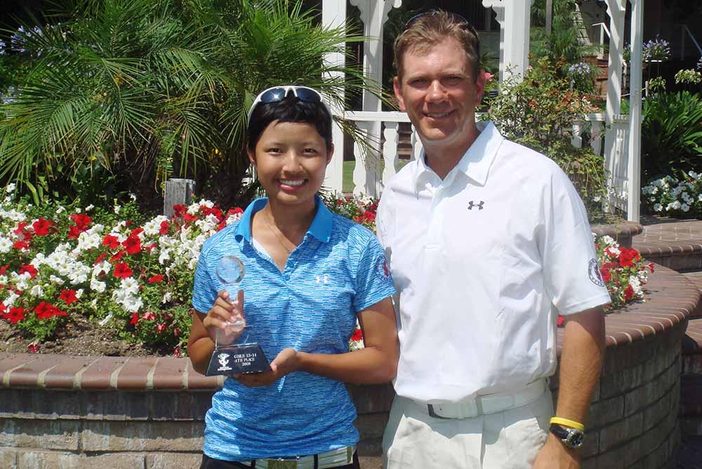 Tiffany Chan and Brad Schadewitz at the Junior World tournament in 2013