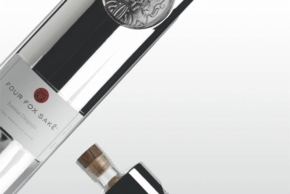 The bottle, in its entirety, is a tribute to Inari Okami. the god of rice, foxes, and sake