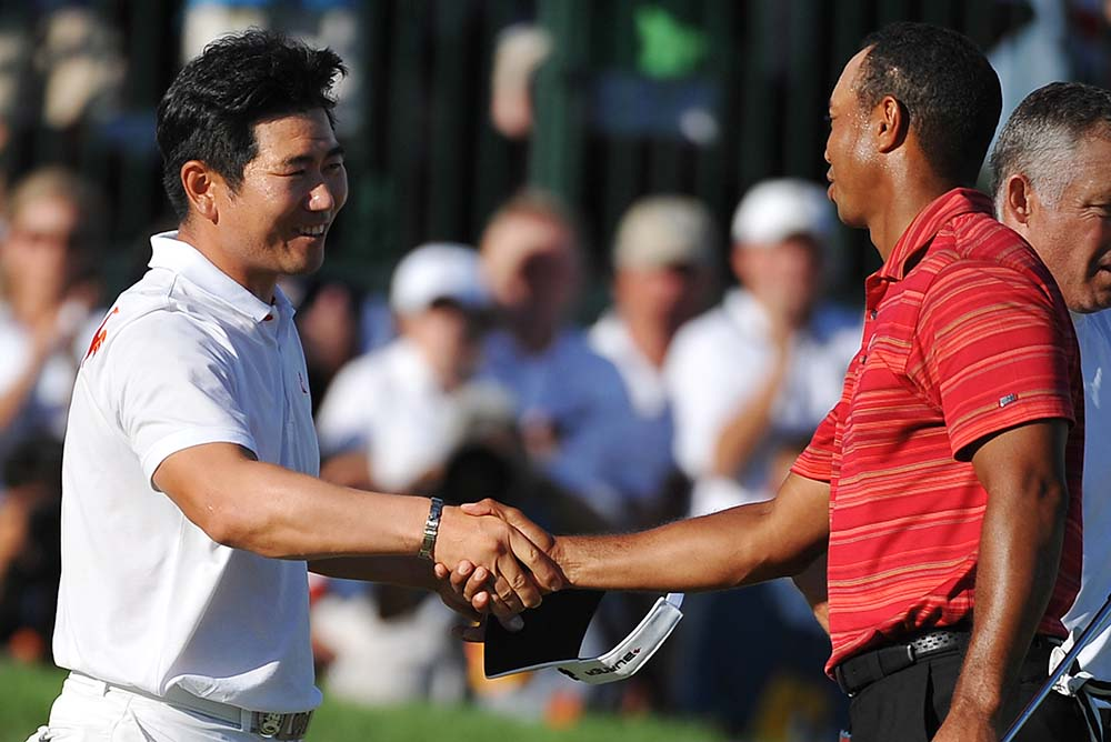 Y.E. Yang beat all odds by trumping Tiger Woods at the PGA Championship in 2009