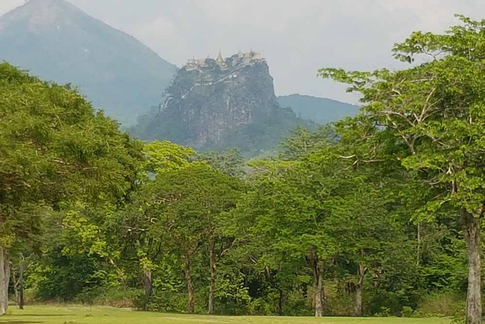 Popa Taungkalat Monastery is a close second to St Andrews as the best backdrop in golf