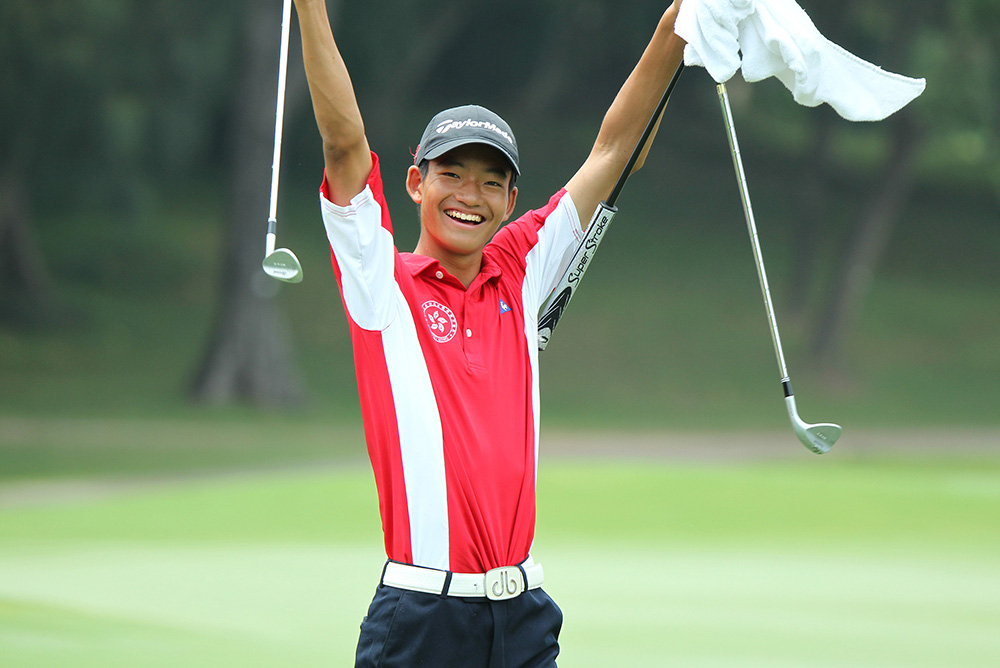 Taichi Kho is thrilled to win the Junior Close title