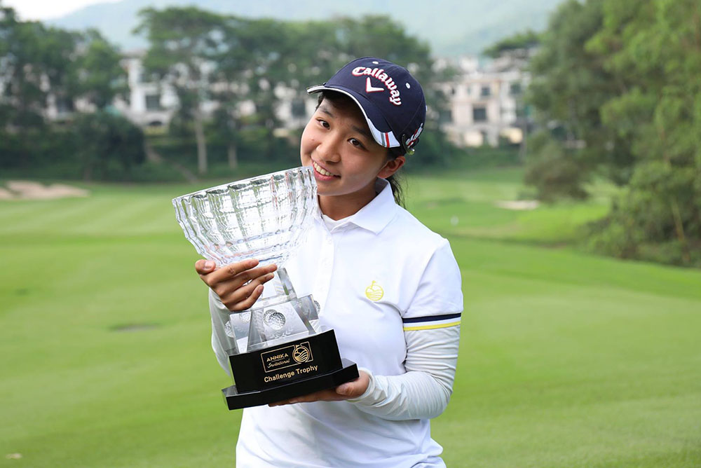 """I'm so excited to win my first big event,"" said Shi"