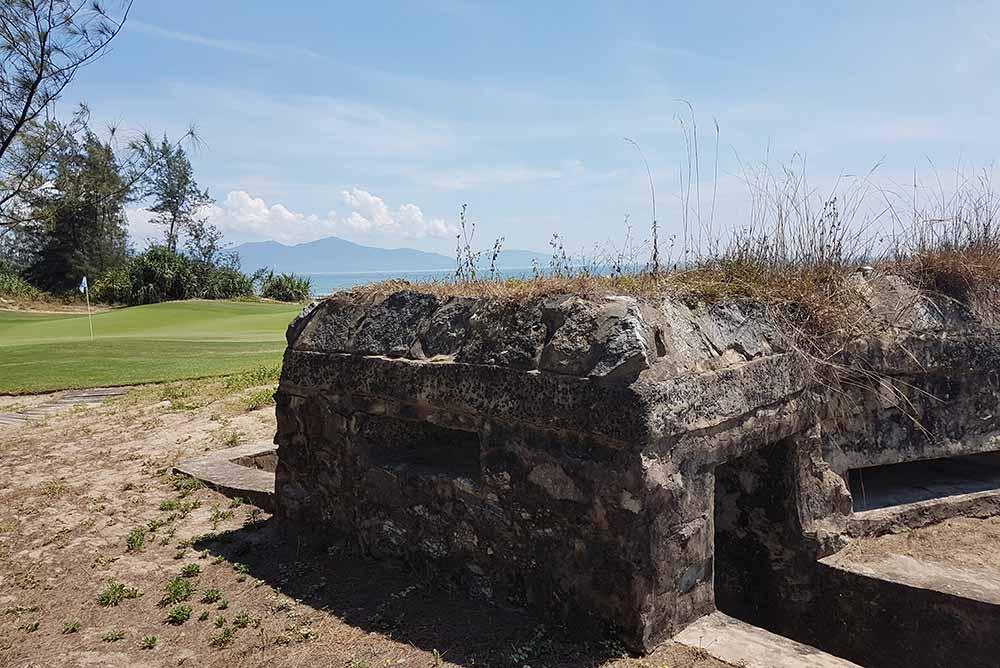 The reminisce of the Vietnam war can still be seen at the Da Nang Golf Club