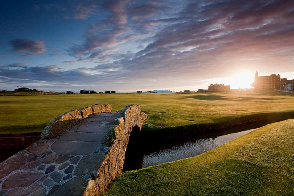 The famous Swilken Bridge at the Old Course in St. Andrews