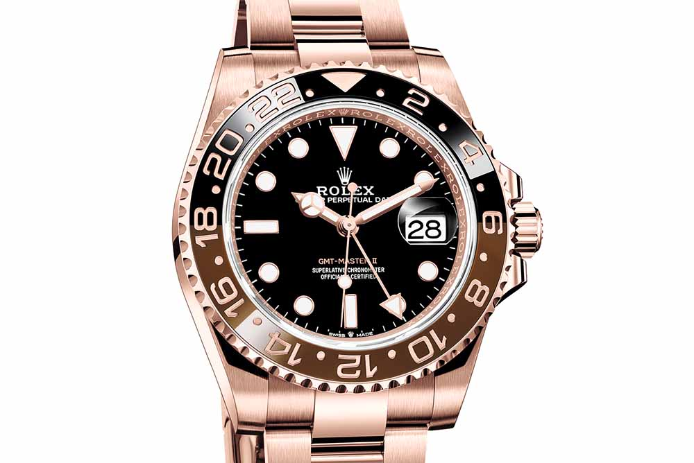 There is also a new 18 CT Everose Gold version for the new GMT-Master II