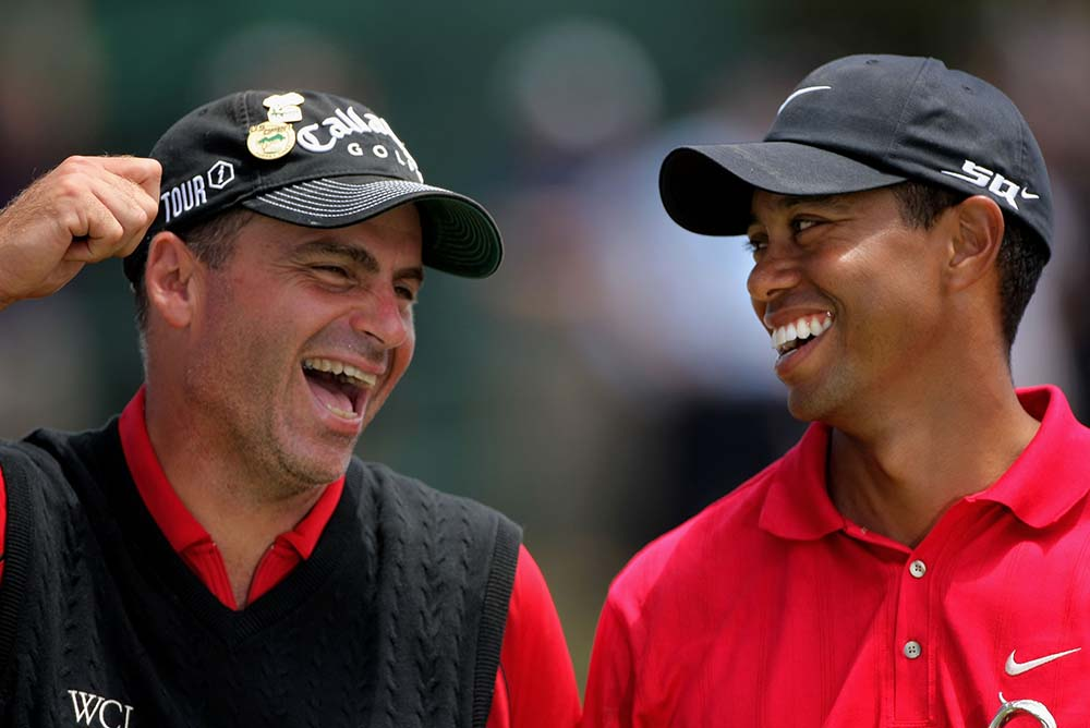 2008 U.S. Open Champion Tiger Woods and Rocco Mediate, runner-up