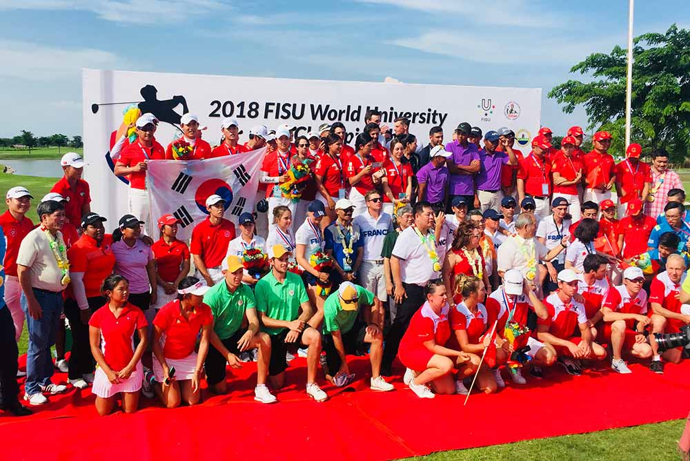 The closing ceremony of the 2018 World University Golf Championship
