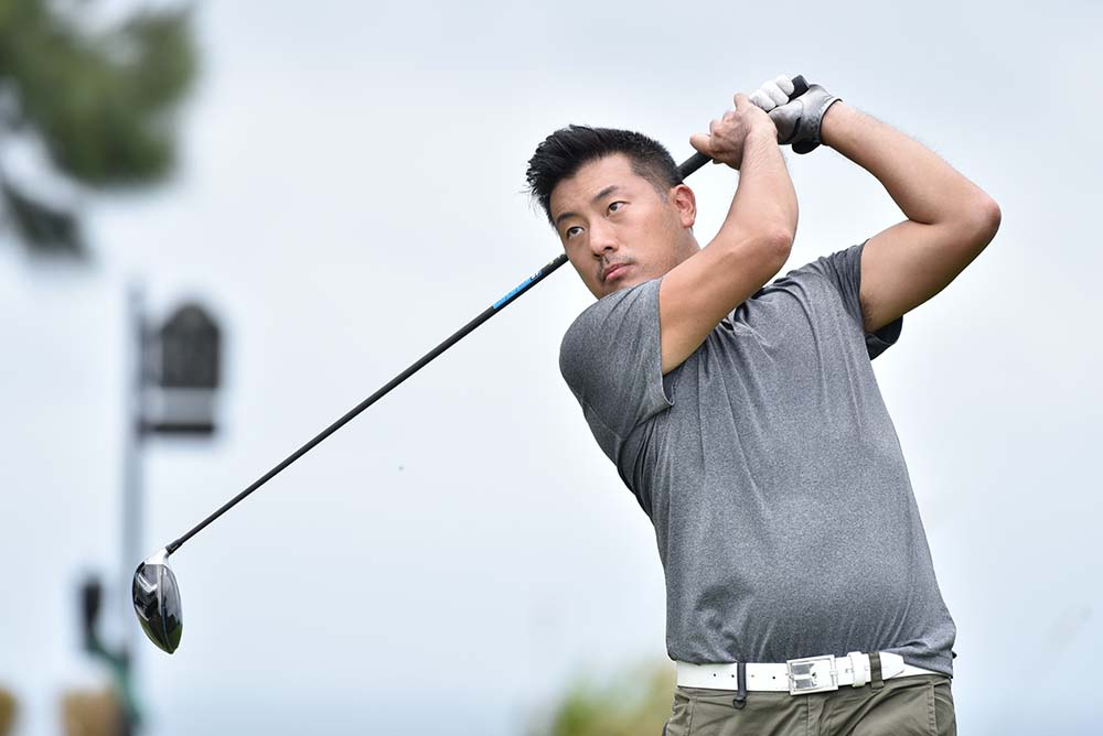 Daniel Wan in action at the HKGA June Stableford Tournament