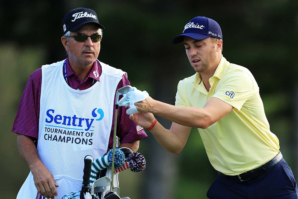 Justin Thomas and his father and caddie Mike Thomas