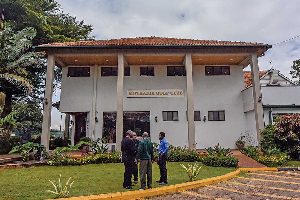 The clubhouse of Muthaiga Golf Club