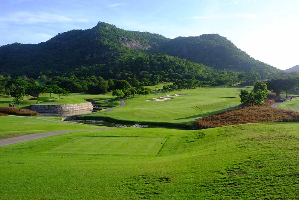 The testing opening hole at the Black Mountain East Course