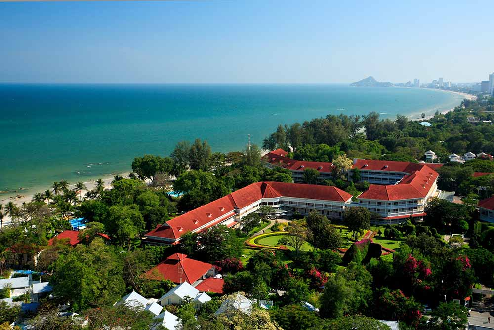 The aerial view of Centara Grand Beach Resort & Villas Hua Hin