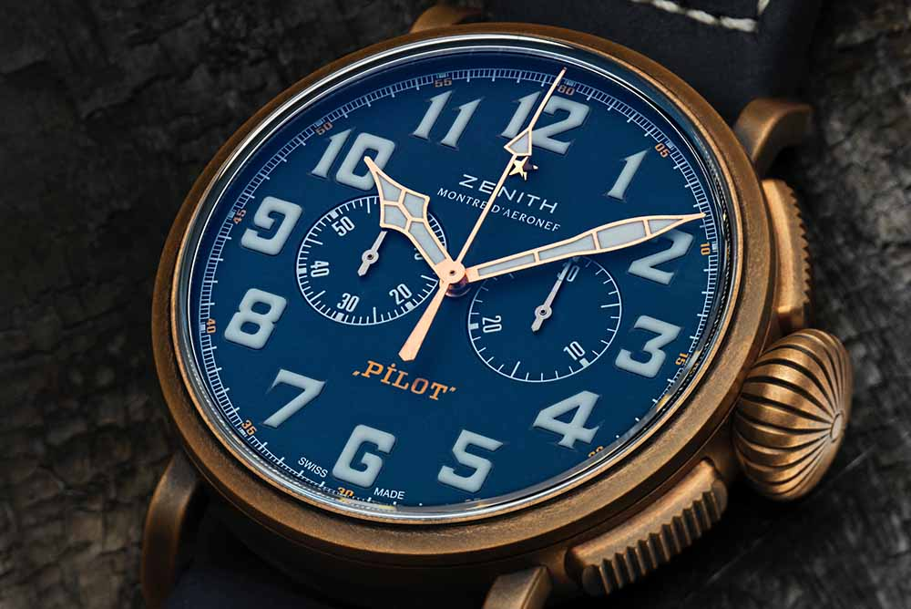 The Zenith Pilot Type 20 Chronograph Extra Special Bronze Blue Dial