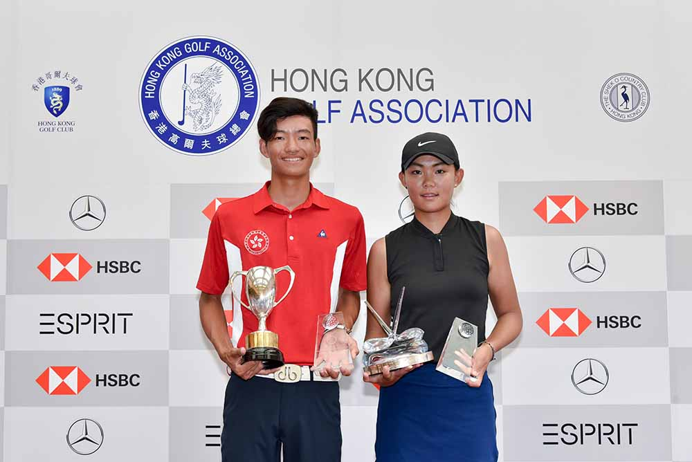 Kho and Li pose for photo with their trophies