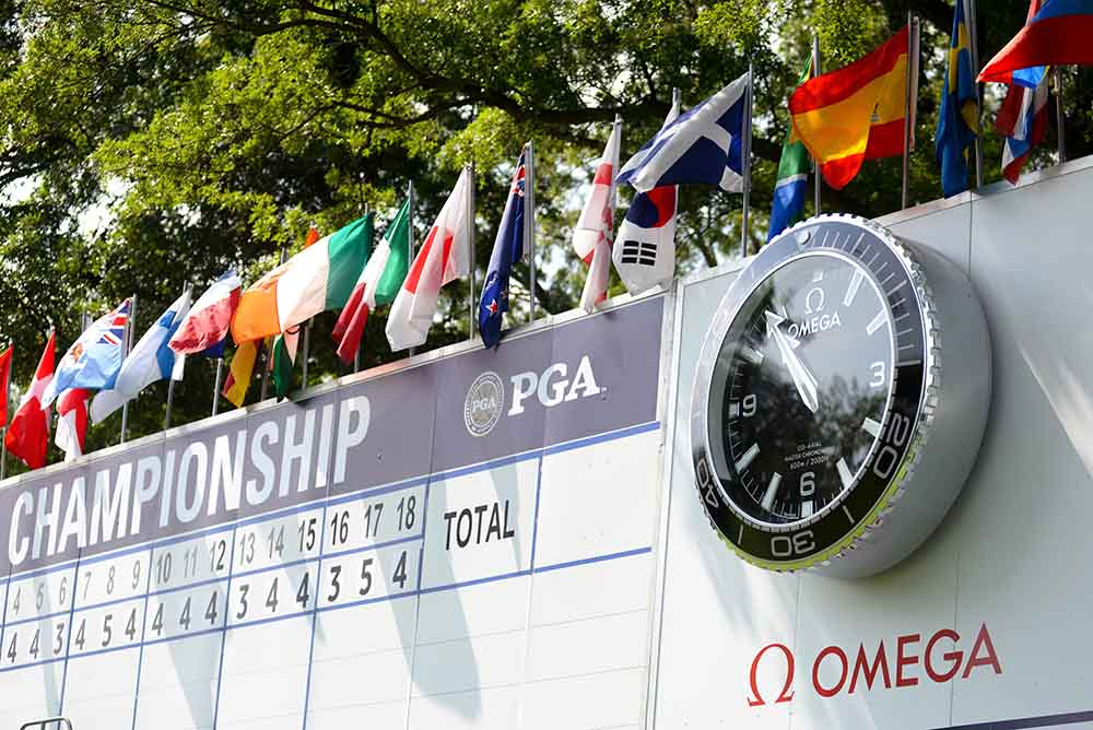 Omega concludes its week-long activation on-site at the 100th U.S. PGA Championship at Bellerive Country Club in St. Louis