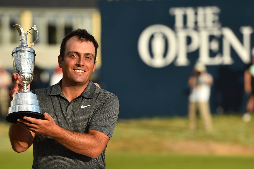 Francesco Molinari poses for pictures with the Claret Jug
